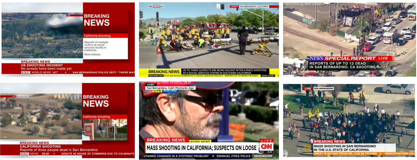 US Shooting on News channels: Fatalities and injuries in California